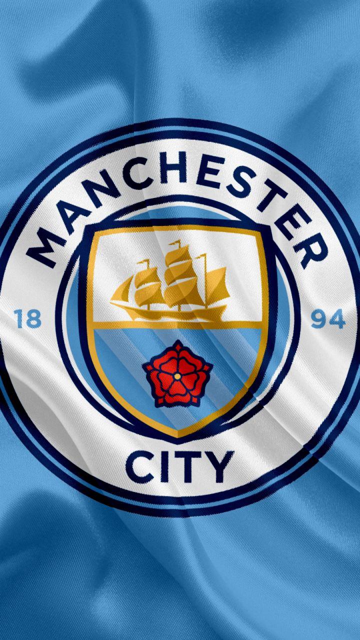 Manchester City Logo Wallpapers 4k Hd Manchester City Logo Backgrounds On Wallpaperbat