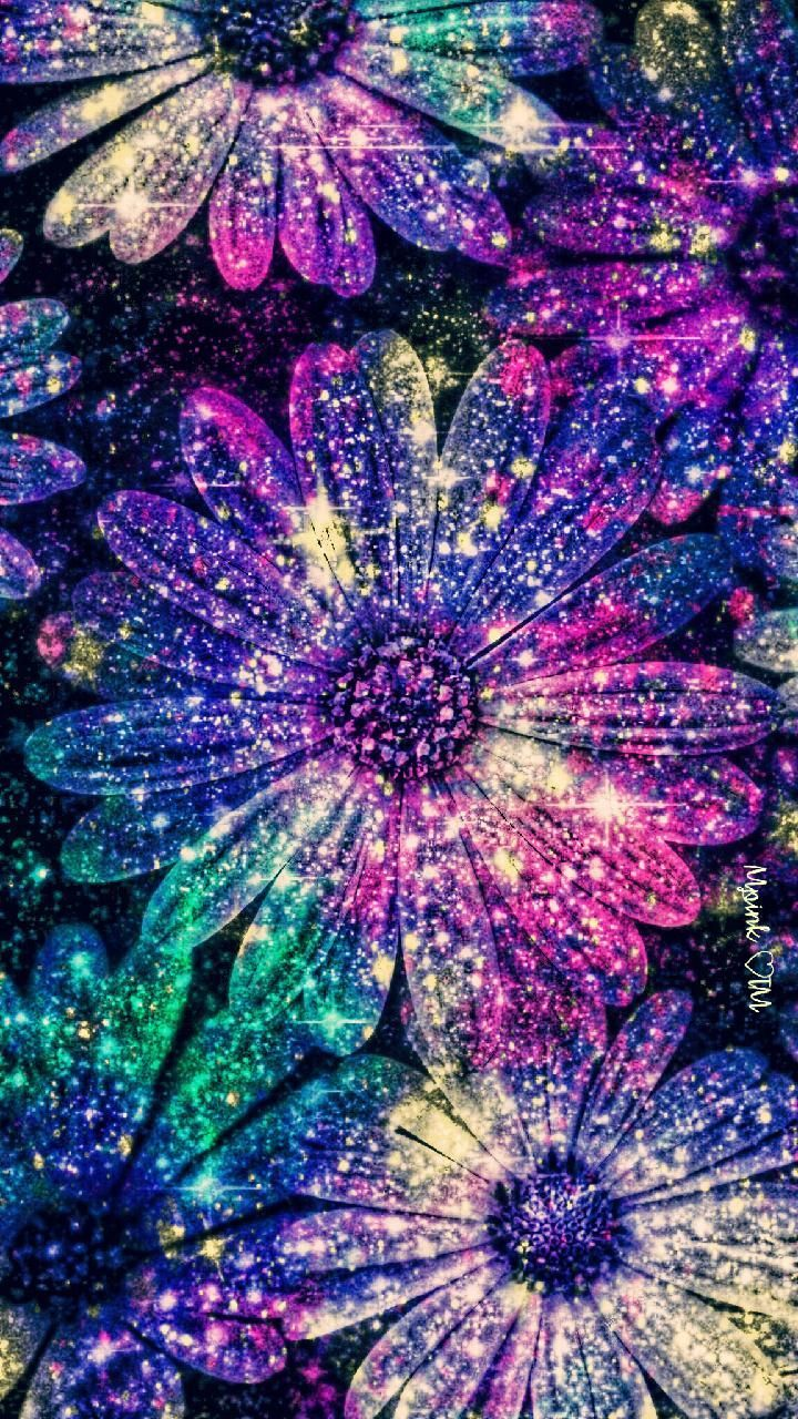 Sparkly Glitter Flowers Wallpapers 4k Hd Sparkly Glitter Flowers Backgrounds On Wallpaperbat